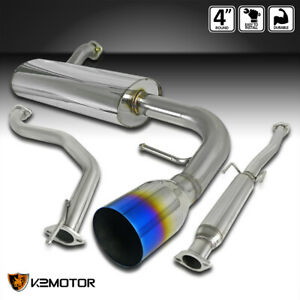 For 1988 1991 Honda Civic 3dr Hatchback Catback Exhaust 4 Burnt Tip