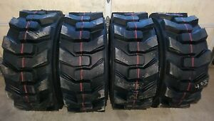 4 Hd 12 16 5 Carlisle Ultra Guard Skid Steer Tires 12x16 5 12 Ply made In Usa