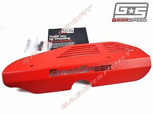In Stock Grimmspeed Red Alternator Cover For 2002 2014 Wrx 2004 2017 Sti