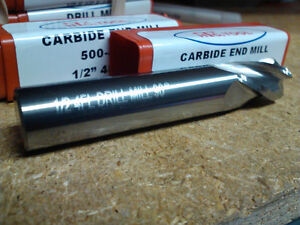 1 2 4 Flute 90 Degree Point Angle Carbide Drill Mill