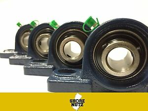 4 Pieces 2 Pillow Block Bearing Ucp211 32 Solid Foot P211