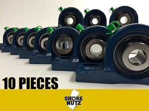 10 Pieces 1 15 16 Pillow Block Bearing Ucp210 31 Solid Foot P210