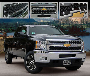2011 2012 2013 2014 Chevy Silverado E power Black Heavy Mesh Grille Grill E