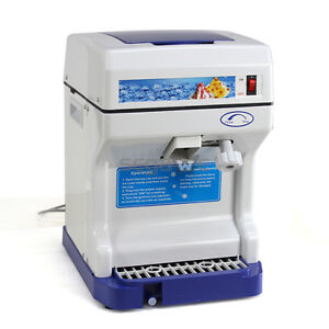 Ice Crusher Maker Commercial Ice Shaver Snow Cone Shaved Ice Equipment Machine
