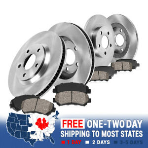 Front Rear Rotors Ceramic Pads For 2004 2006 2007 2008 2009 2010 Toyota Sienna