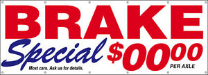 Brake Special Vinyl Banner Sign Custom Auto Repair add Your Price 3x10 Ft