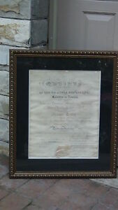 Antique 1838c Doctor Of Medical Diploma Transylvania University Sign By H Clay
