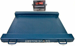 1000 X 0 2 Lb Digital Drum Scale 30x24 Portable Floor Steel Ntep Legal 4 Trade