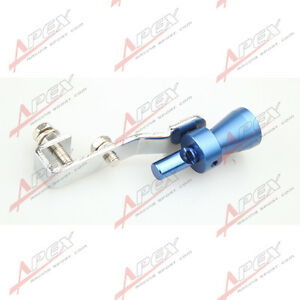 Universal Turbo Sound Exhaust Whistle Fake Blow Off Bov Simulator Blue S