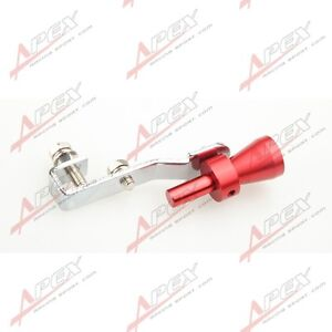Universal Turbo Sound Exhaust Whistle Fake Blow Off Bov Simulator Red S A