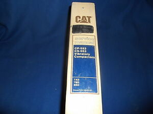 Cat Caterpillar Cp 553 Cs 553 Vibrtory Compactor Service Shop Repair Book Manual