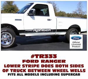 Tr333 Ford Truck Ranger Rocker Side Stripe Decal Kit Fits All Models