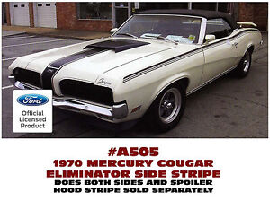 A505 1970 Mercury Cougar Eliminator Side And Spoiler Stripe Kit