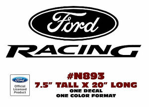 N893 Ford Racing Decal Ford Sticker 7 5 Tall One Decal