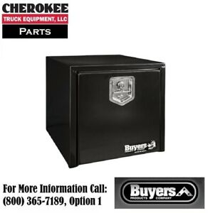 Buyers Products 1702295 18x18x18 Black Steel Underbody Truck Box