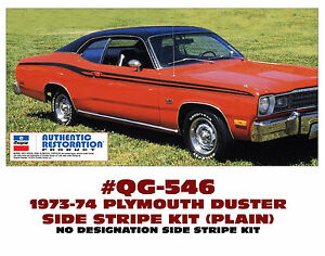Qg 546 1973 74 Plymouth Duster Plain Side Stripe Kit No Numeral