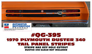 Qg 395 1970 Plymouth Duster Tail Panel Stripe Apply Between Tail Lights