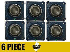 6 Pieces 1 4 Bolt Flange Bearing Ucf205 16 Ucf205