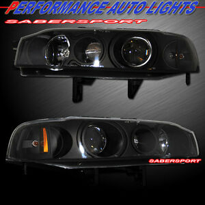 Set Of Pair 1pc Style Black Projector Headlights For 1990 1993 Honda Accord