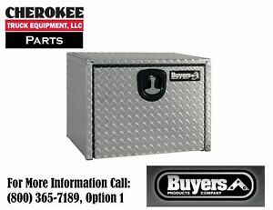 Buyers Products 1735103 Aluminum Underbody Toolbox 3 pt 18 H X 18 D X 30 W
