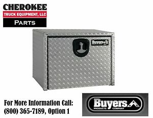 Buyers Products 1735133 Aluminum Underbody Toolbox 3 pt 24 H X 24 D X 30 W