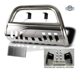 Fits 2005 2007 Nissan Pathfinder Classic Bull Bar Stainless Steel Chrome