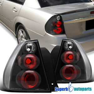 For 2004 2007 Chevy Malibu Replacement Tail Lights Brake Lamps Black