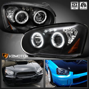 For 2004 2005 Subaru Impreza Wrx Sti Rs Outback Led Projector Headlights Black