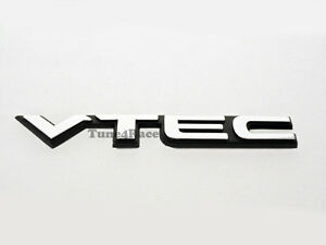 For Honda Vtec Black Small Emblem Sticker Logo Badge Civic Si Accord Jdm New