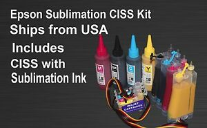 Ciss Sublimation Ink Kit Fits Epson Xp310 Xp410 4x100ml Bottles Ink Included