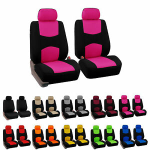 Pair Bucket Fabric Seat Covers For Detachable Headrest Seats