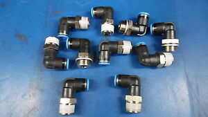Lot Of 10 Festo Elbow 90 Push Lock Fitting Number 8 For Pneumatic Tubing Loose
