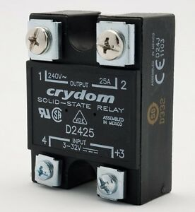 Crydom D2425 Solid State Relay 3 32 Vdc 25a New