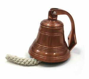 Solid Aluminum Ship S Bell 6 Copper Finish Nautical Hanging Wall Decor New