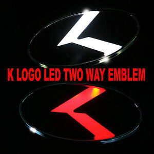 2 Way White Red Led K Logo Emblem Badges Rear For Kia Optima 2011 2015 New