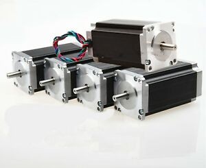 5pcs Nema 23 Stepper Motor 425 Oz in 3a Single Shaft 4 Leads 57bygh Cnc Kits