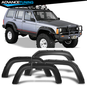 For 84 01 Jeep Cherokee Xj 4dr Pocket Rivet Style Pp Fender Flares Wheel 6pcs