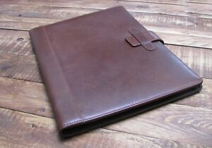 Brown Real Leather A4 Folder Organiser Portfolio Option To Personalise It124
