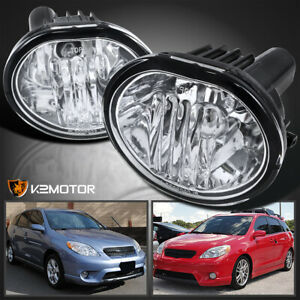 For 2003 2008 Toyota Matrix Pontiac Vibe Clear Lens Fog Lights Pair