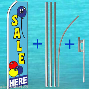 Sale Here Flutter Flag 15 Tall Pole Mount Kit Feather Swooper Banner Sign 1262