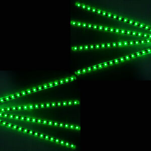 8 X Green 15 Led 30cm Car Grill Flexible Waterproof Strip Light Smd 12v Sales