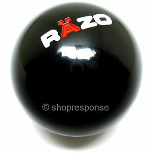 Razo Ra102 Resin Sports Shift Knob Black Round Ball 46g Made In Japan Jdm