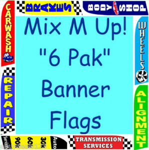Auto Repair Bundle Special 6 Flutter Flags 6 Pole Kits Feather Swooper Banner