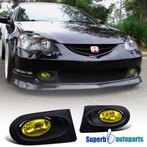 2002 2004 Acura Rsx Dc5 Type s Driving Fog Lights W switch Yellow