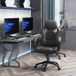 Racecar Styled High Back Leather Executive Computer Home Office Swivel Chair