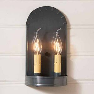 Arch Double Wall Sconce In Country Tin By Irvin S Country Tinware