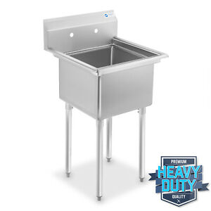 Commercial Stainless Steel Kitchen Utility Sink 23 5 Wide