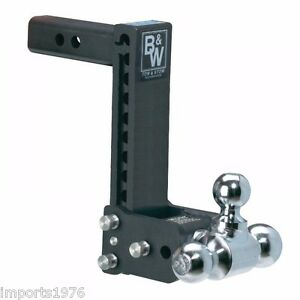 B w Tow Stow Trailer Hitch Tri Ball Mount 9 Drop 9 1 2 Rise Ts10050b