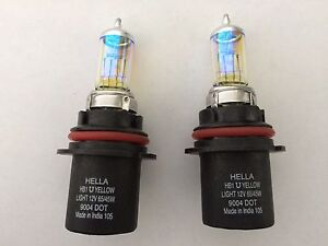 9004 Hb1 Hella High Performance Xenon Light Bulbs White Beam Headlight Fog Lamp