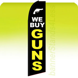 We Buy Guns Swooper Flag Feather Flutter Banner Sign 11 5 Tall Kb